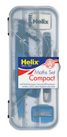 Helix Compact Maths Geometry Set with Compass Ruler Protractor Squares Sharpener