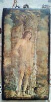 Quadretto su legno San Sebastiano Come da foto 25,5 x 13,5 cm Peso 340 gr