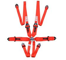 """STR 6-Point 3"""" to 2"""" FHR HANS Race/Rally Harness Seat Belt FIA 2023 - Red - SALE"""