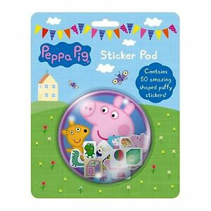 Peppa Pig Sticker Pod Puffy Shaped Stickers George Character Branded Pad Piece