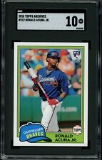 RONALD ACUNA JR. 2018 Topps Archives #212 RC Rookie (Braves) SGC 10 GM
