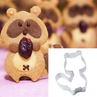 Lovely Cat Animals Stainless Steel Cookie Dessert Fruit Cutte Mould Party#