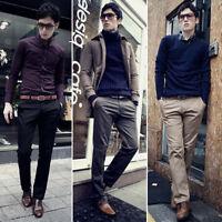 Men's Slim Fit Skinny Pencil Pants Business Formal Suit Dress Casual Trousers US