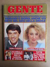 GENTE n°8 1986 Morandi Eleonora Giorgi Renzo Arbore Stefania di Monaco  [D38]