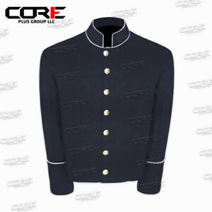 US Civil War Navy Blue Wool Shell Jacket With Off White PIPING Trim All Sizes!