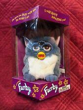 Furby Vintage 1st Ed Blue W/White Tummy Pink Ears Tiger Electronics Model 70-800