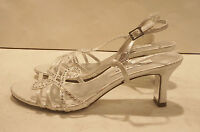 NINA Garland Heeled Sandals Color: Sliver Sz: Women's 6.5