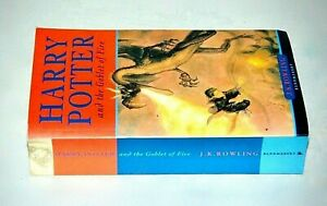 Harry Potter and The Goblet of Fire Paperback Book 2001 J.K.Rowling Bloomsbury