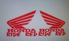 HONDA RIDE RED TRAILER  DECALS