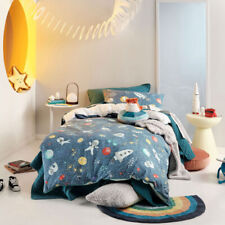 Hiccups Kids Space Race Quilt Cover Set, Pencil-draw Dogs and Cats as Astronauts