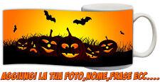 Tazza Personalizzata Happy Hallowen zucche e pipistrelli