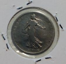 0010-France 1 franc Semeuse argent 1901 TB+
