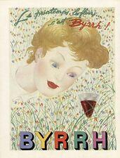 """""""BYRRH"""" Annonce originale entoilée pour FRANCE -ILLUSTRATION de 1952 LEPAPE"""