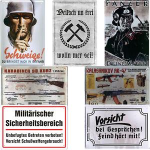 Blechschild Schilder 20x30cm Deutsches Reich Soldat Wehrmacht Retro Weltkrieg