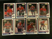 1986-87 O-Pee-Chee  MONTREAL CANADIENS 13 card team  lot