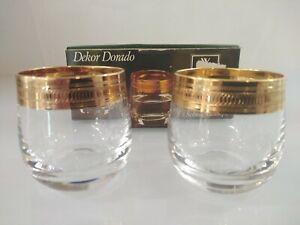 WMF Cristal Diana Dorado Dekor 2 Schnapsstamper