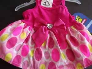 pink MOD DOT Dog Dress new pet S Top Paw puppy Small Christmas