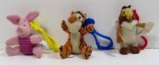 "McDonald's The Tigger Movie Tigger Piglet Owl 3"" Mini Plush Toy Keychains"