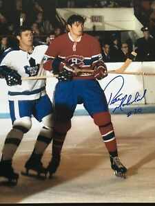 PETER MAHOVLICH AUTOGRAPHED 16 X 20 PHOTO