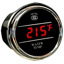 Teltek Water Temperature Gauge for Any Semi, Pickup Truck or Car
