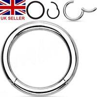 12g Hinged Piece2.0mm Segment Ring Hoop - 12mmStainless Steel