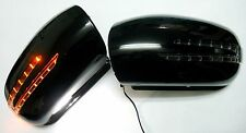 Side Mirror Cover Arrow Style LED Mercedes-Benz W211 02-05 Pre-Facelift  Black