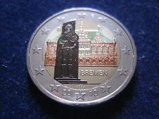 """MDS DEUTSCHLAND 2 EURO 2010 D """"BREMEN"""", COLORIERT"""
