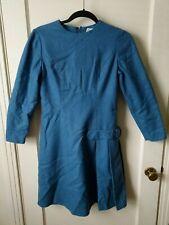 Sue Brett Renown Look Vintage Wool 60's Small Dress Teal
