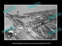 OLD LARGE HISTORIC PHOTO BRISTOL ENGLAND AERIEL VIEW AVONMOUTH DOCKS c1950 2
