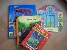Lote de 3 libros infantiles y un calendario para colorear