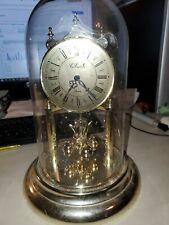 Vintage Con Cord Pa - Concord - Anniversary Clock W/ Glass Dome Had corrosion