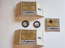 3 x 80 Jahre alte ov OMEGA Zugfeder 35,5 mm Uhrmacher Nachlass 135 306