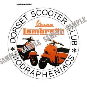 LAMBRETTA LI VINYL TOOLBOX LID STICKER  CLASSIC QUADROPHEINA JIMMY REPLICA STYLE
