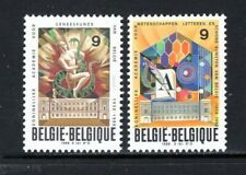 Belgium 1988 Tapestry In Hall Of Royal Academy Of Medicine Sc 1295-96 Mnh