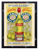 Historic Carter's Lemon Syrup, H W Carter, Bristol, c.1900 Advertising Postcard