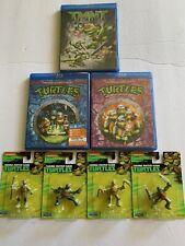 Teenage Mutant Ninja Turtles Set - 3 Blu-ray Movies, 4 Turtle Figurines