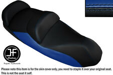 BLACK AND ROYAL BLUE VINYL CUSTOM FITS 14-15 PIAGGIO MP3 LT 500 SPORT SEAT COVER