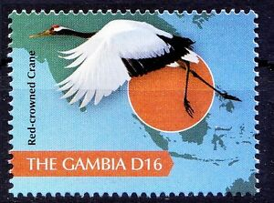 Gambia 2011 MNH, Water Birds, Red Crowned Crane