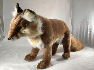 Hansa Brown Fox Plush Stuffed Toy Animal Poseable Life Like Realistic 2004