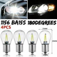 4 x 1156 BA15S COB LED Auto Rücklicht Blinker Birne Lampe Bremslicht 12V-24V