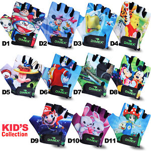 Dimex Kids Cycling Padded Gloves Bicycle Cycle BMX Gloves Children Youth Junior