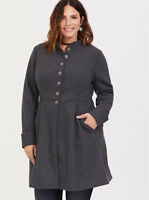 Womens Torrid Outlander Claire Button Coat Size 1 X large 14 NWT