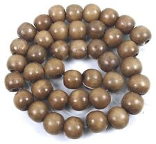 12x10mm Camel Wood Round Beads 16""