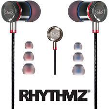 RHYTHMZ ® HD9 SmartTalk™ Earphones with Microphone + Volume Control (Titanium)
