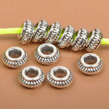 50PCS Tibetan silver charm space beads Jewelry Findings bead 3x7MM J3536