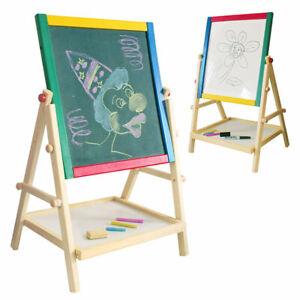 2in1 Kreidetafel für Kinder Holz Standtafel Magnet Mal Schreib Tafel Schultafel