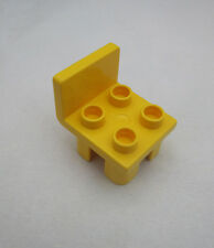 Rare LEGO Duplo YELLOW CHAIR Furniture Chair 2 x 3 x 2 for House Table Living