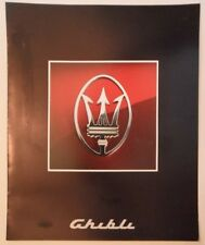 MASERATI GHIBLI orig 1992 Sales Brochure Prospekt in English French & German