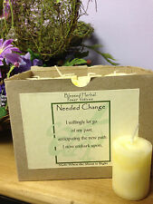 Needed Change~ Power Votives~Metaphysical~Wicca~ Let Go & Bring In Change
