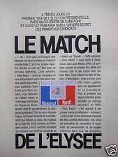 PUBLICITÉ SUR EUROPE1 LE MATCH DE L'ELYSÉE